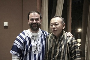 With former Bhutan prime minister